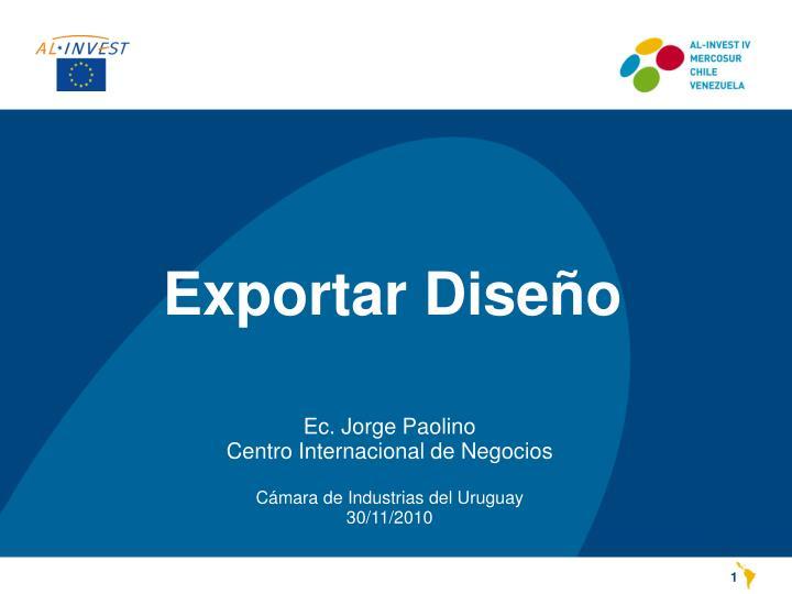 Exportar Diseño