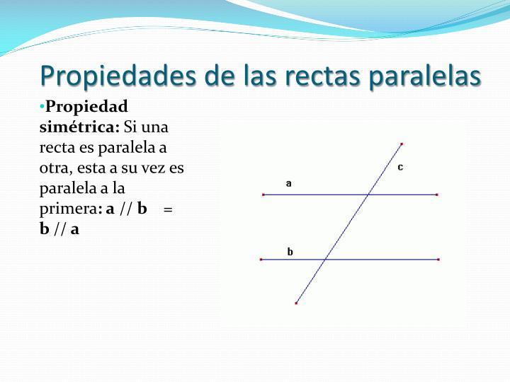 Propiedades de las rectas paralelas