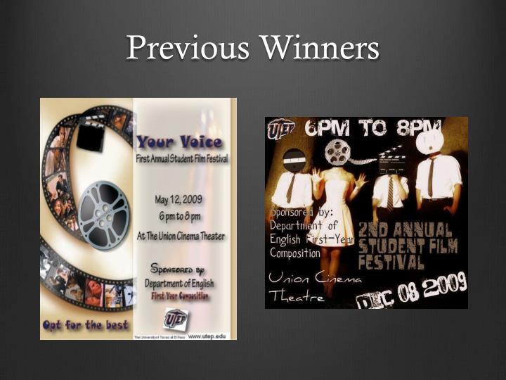 Previous Winners