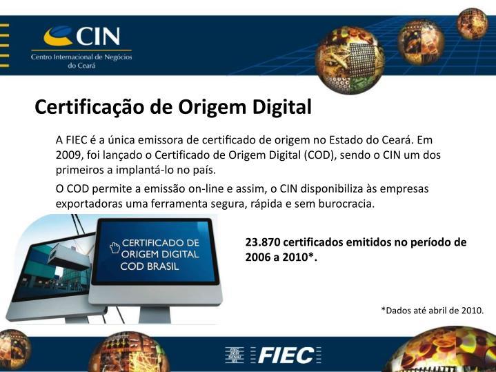 Certificação de Origem Digital