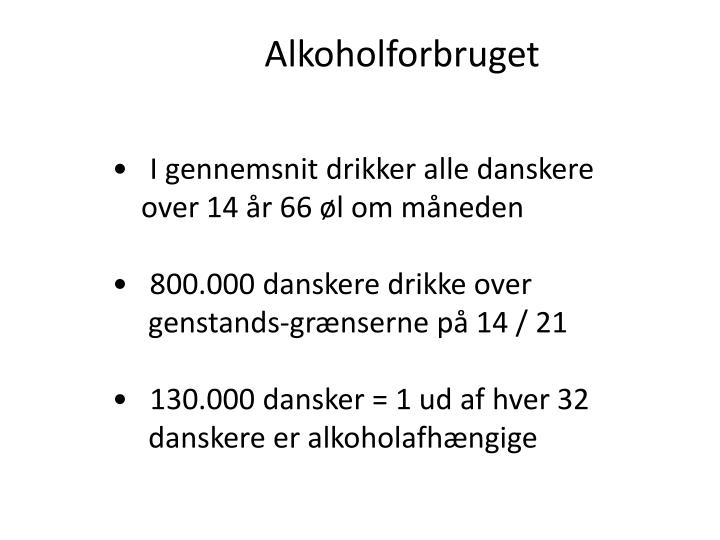 Alkoholforbruget
