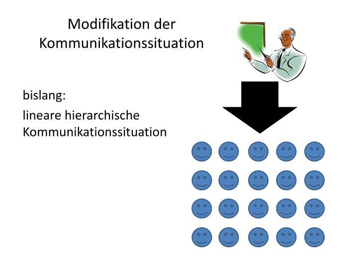 Modifikation der