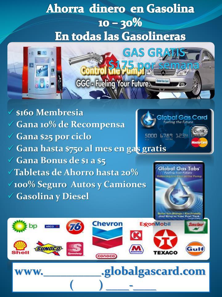 Ahorra  dinero  en Gasolina