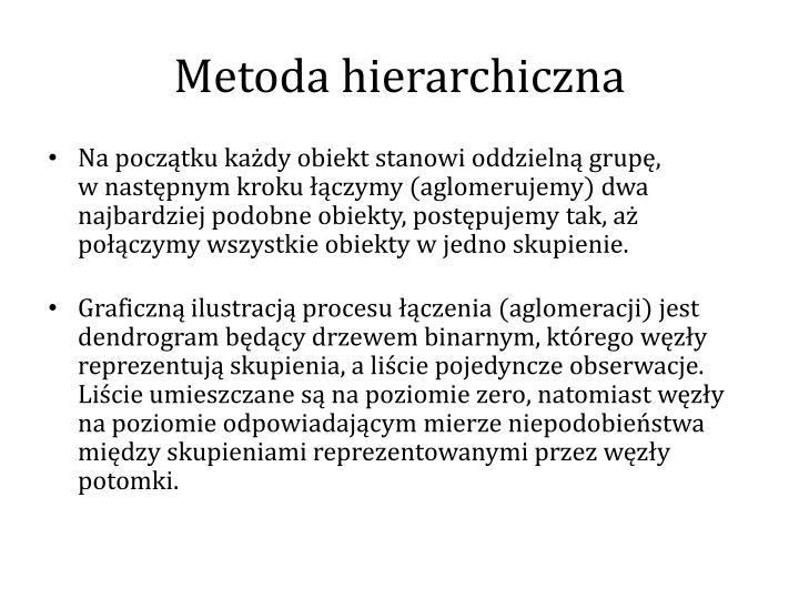 Metoda hierarchiczna
