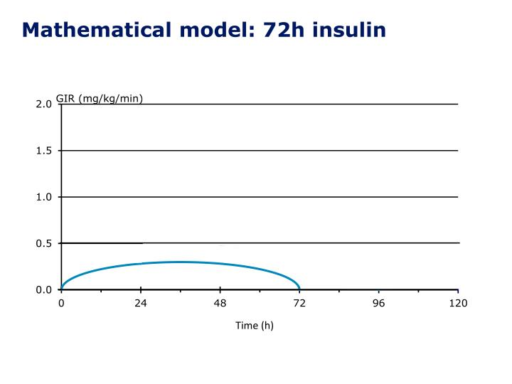 Mathematical model: 72h insulin