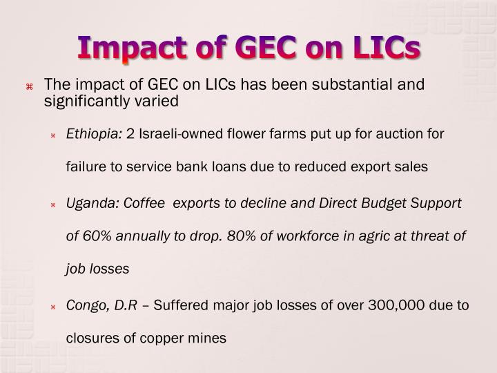 Impact of gec on lics