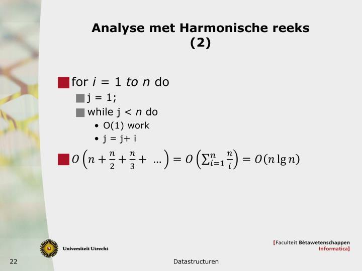 Analyse met Harmonische
