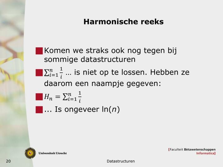 Harmonische reeks
