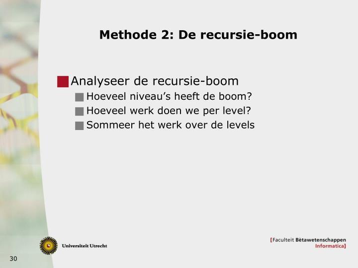 Methode 2: De recursie-boom