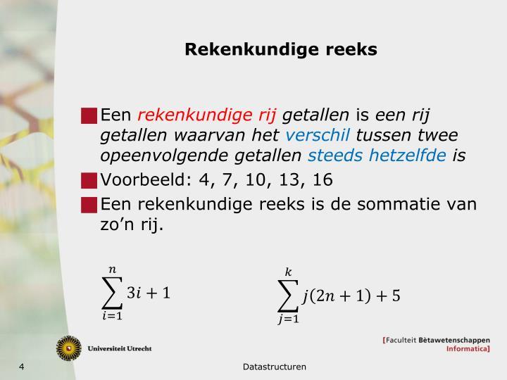 Rekenkundige reeks