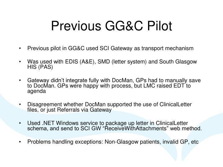 Previous GG&C Pilot