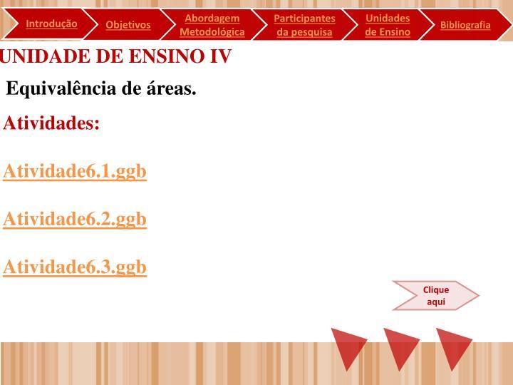 UNIDADE DE ENSINO IV