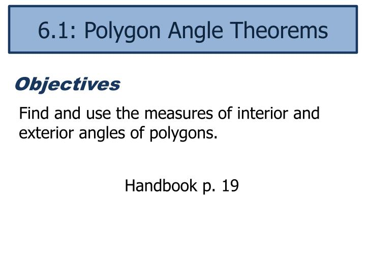 Ppt Find And Use The Measures Of Interior And Exterior Angles Of Polygons Powerpoint