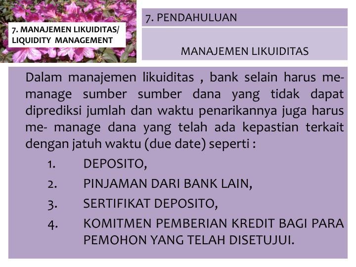 7. PENDAHULUAN