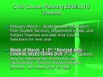 chs course planning 2009 2010 timeline1