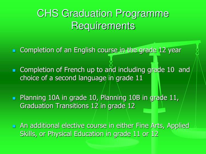 CHS Graduation Programme