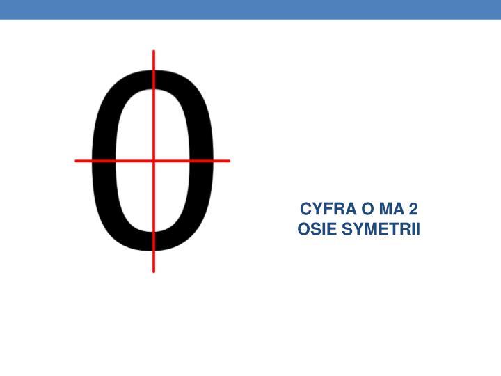 CYFRA O MA 2 OSIE SYMETRII