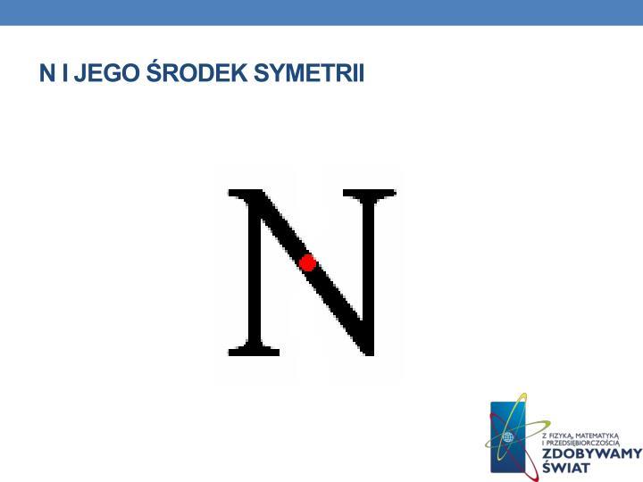 N i jego środek symetrii