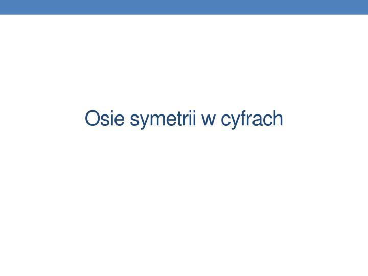Osie symetrii w cyfrach