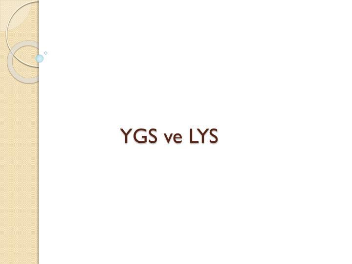 YGS ve LYS