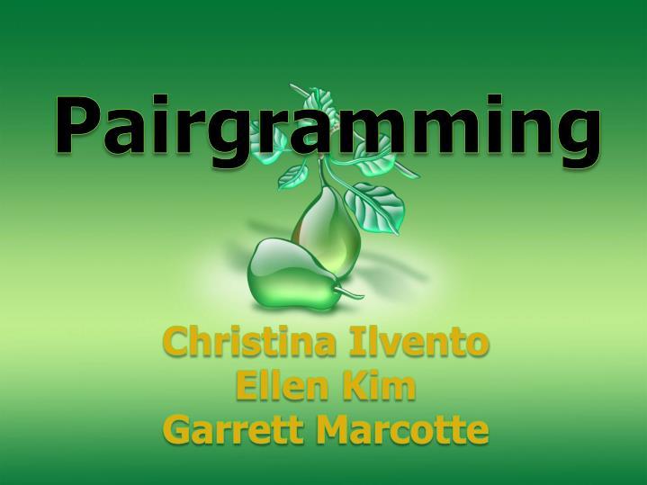 Pairgramming