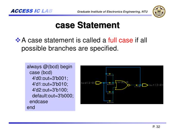 case Statement