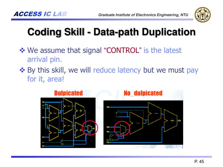 Coding Skill - Data-path Duplication