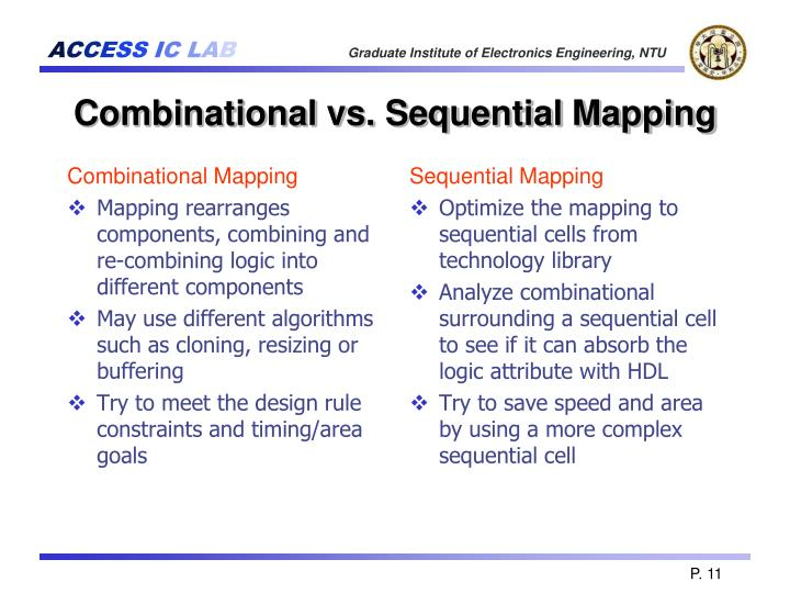 Combinational Mapping