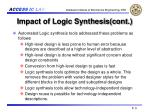 impact of logic synthesis cont
