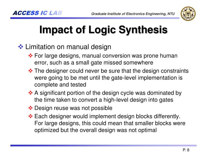 Impact of Logic Synthesis