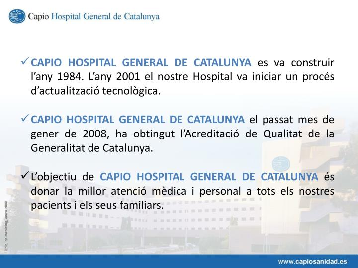 CAPIO HOSPITAL GENERAL DE CATALUNYA