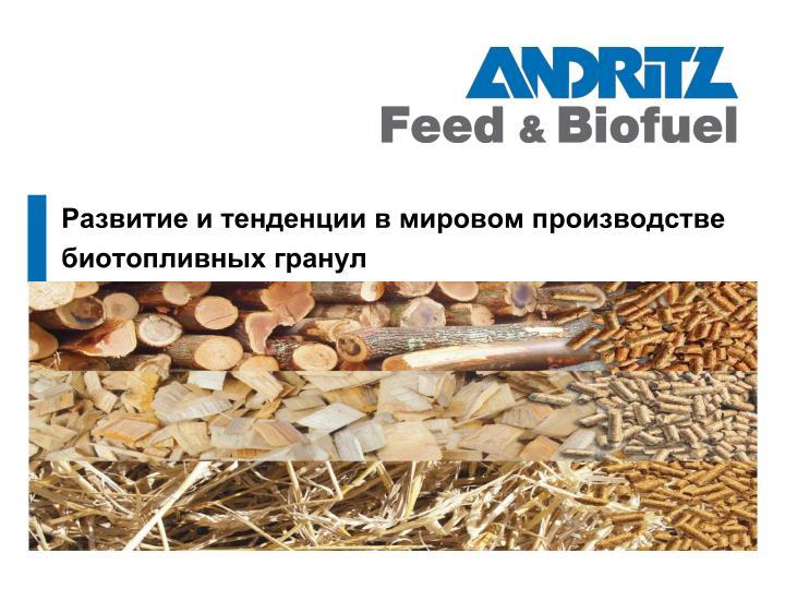 Развитие и тенденции в мировом производстве биотопливных гранул