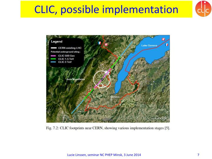 CLIC, possible implementation