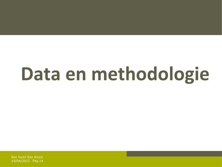 Data en methodologie