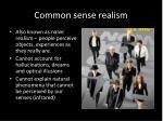 common sense realism