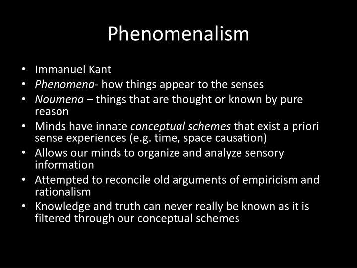 Phenomenalism
