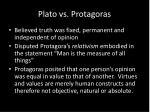 plato vs protagoras