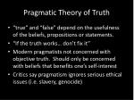 pragmatic theory of truth