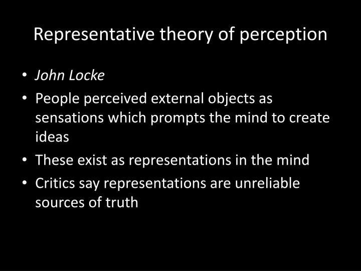Representative theory of perception