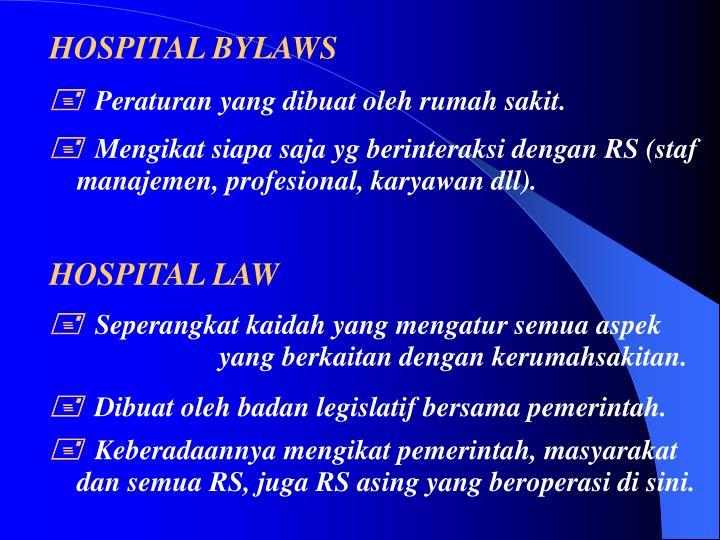 HOSPITAL BYLAWS
