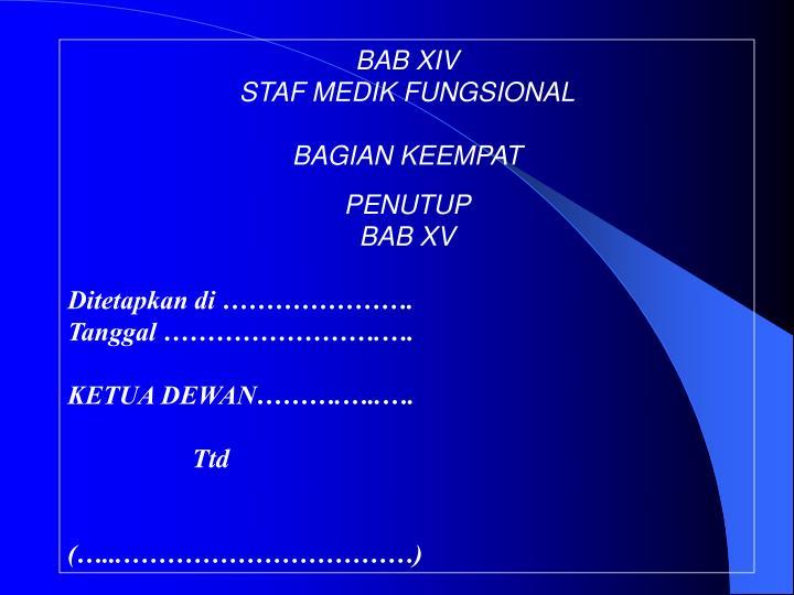 BAB XIV