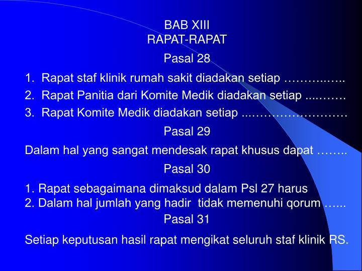 BAB XIII