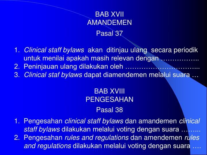 BAB XVII