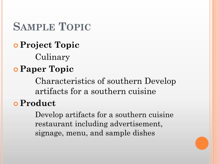 Sample Topic