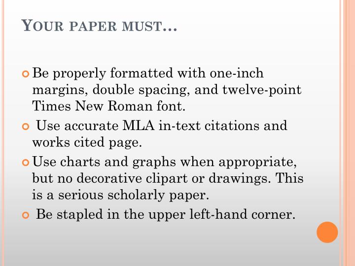 Your paper must…