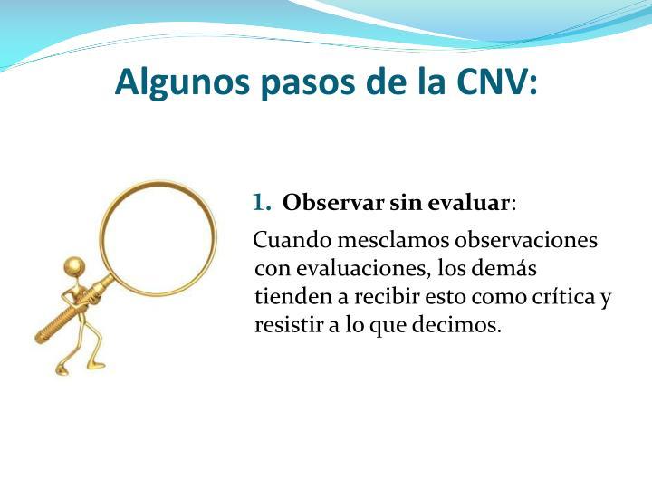 Algunos pasos de la CNV: