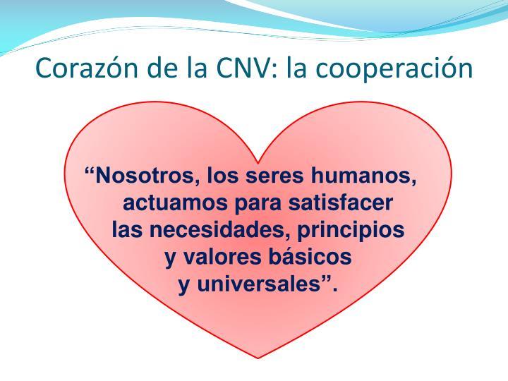 Corazón de la CNV: la cooperación