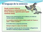 el lenguaje de la violencia