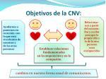 objetivos de la cnv