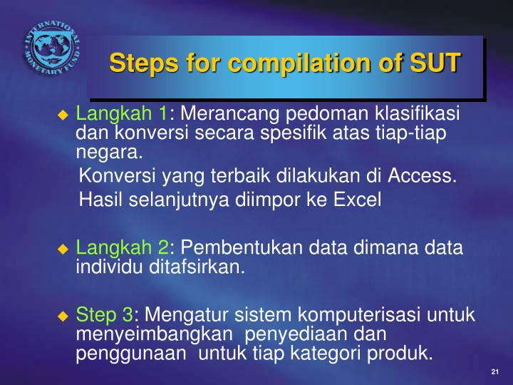 Steps for compilation of SUT
